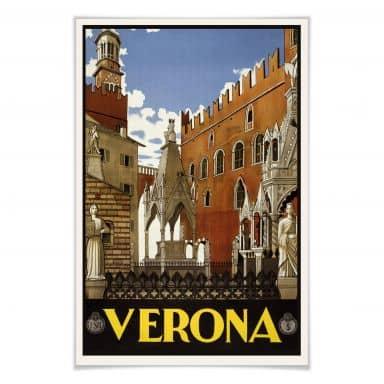 Poster Vintage Travel - Verona