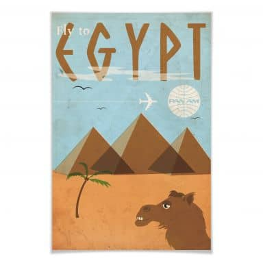 Poster PAN AM - Fly to Egypt