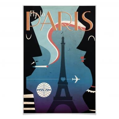 Poster PAN AM - Fly to Paris