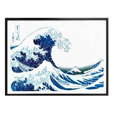 Plakat - Hokusai - Den store bølge