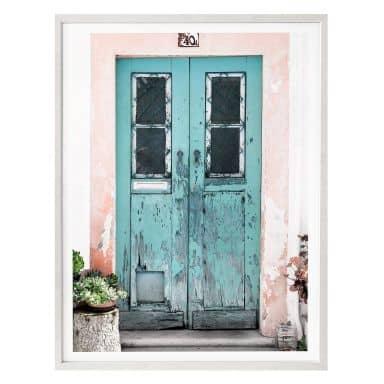 Poster Hugonnard - Blaue Tür in Lissabon