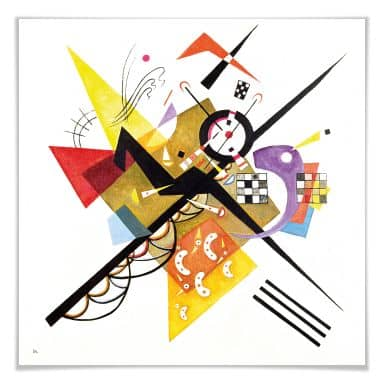 Poster Kandinsky - Auf Weiss II