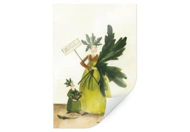 Poster Leffler - Ruccolamädchen