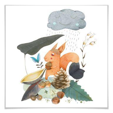 Poster Loske - Autumn - Quadratisch
