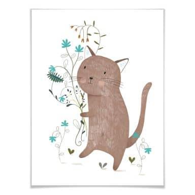 Poster Loske - Kleine Katze