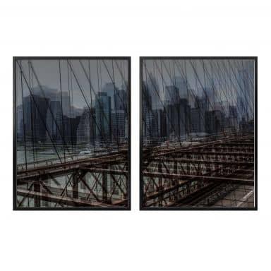 Poster Massimo - New York City (2-teilig) inkl. Bilderrahmen