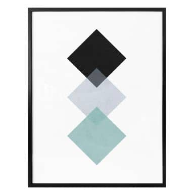 Poster Nouveauprints - Squares aqua