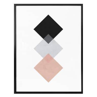 Poster Nouveauprints - Squares Pink