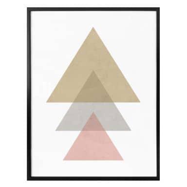 Poster Nouveauprints - Triangles pink
