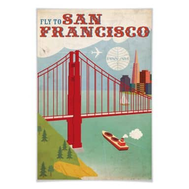 Poster PAN AM  - Fly to San Francisco