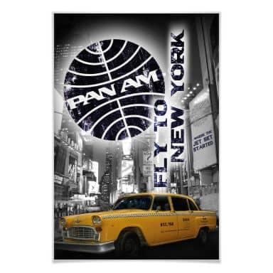 Poster PAN AM - New York Yellow Taxi Cab