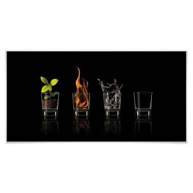 Poster Frutos Vargas - The Four Elements - Panorama