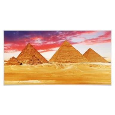 Poster Die Pyramiden von Gizeh
