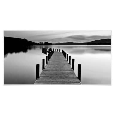 Poster - Panorama de la mer - noir/blanc