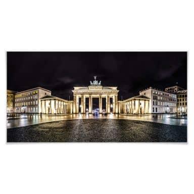 Poster Brandenburgse poort - Panorama