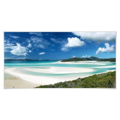 Poster Whitehaven Beach - Panorama
