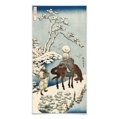 Poster Hokusai - Der chinesische Dichter Su Dongpo