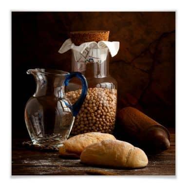 Poster Laercio - Italian Breads - vierkant