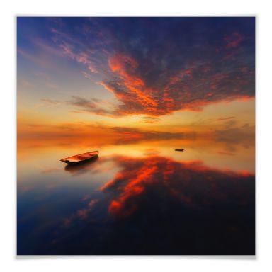 Poster Krol - Ein leuchtender Sonnenuntergang - qu