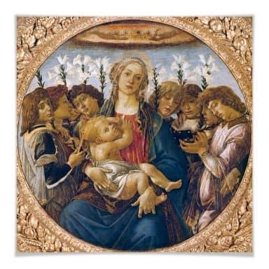Poster Botticelli - Maria mit dem Kind und singend