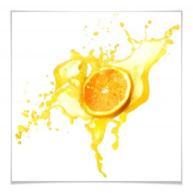 Poster Splashing Oranges