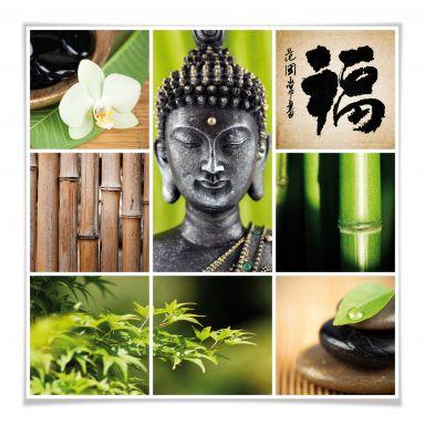 Poster Asian Spa - quadratisch