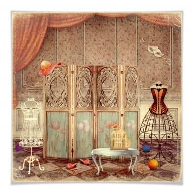 Poster Kleedkamer van een Prinses
