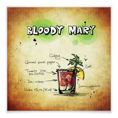 Poster Bloody Mary - Rezept