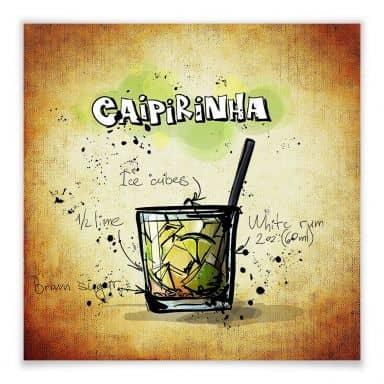 Poster Caipirinha - Rezept