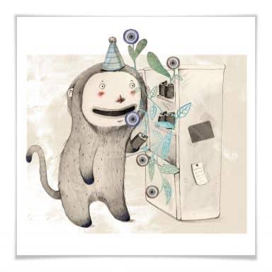 Poster Loske - Überraschung im Kühlschrank