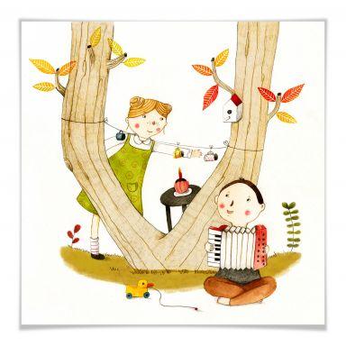 Poster Loske - Picknick