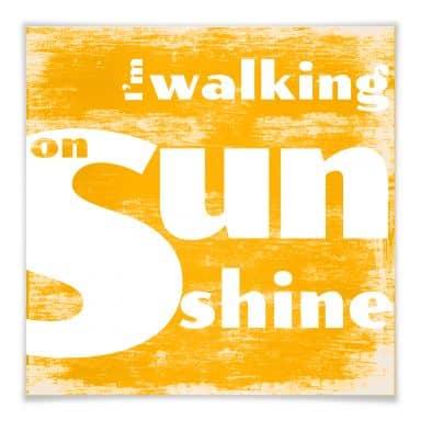 Poster Walking on Sunshine - square