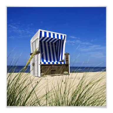 PosterBeach chair - square