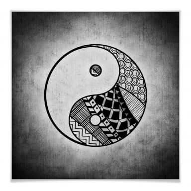 Poster Yin und Yang - quadratisch