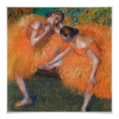 Poster Degas - Zwei Tänzerinnen