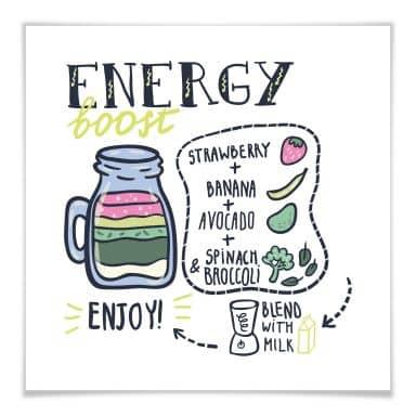Poster Energy Boost - quadratisch