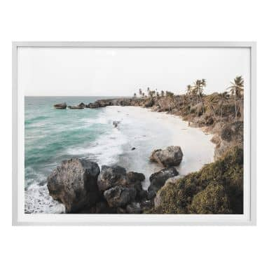 Poster Colombo - Strand auf Barbados - quer