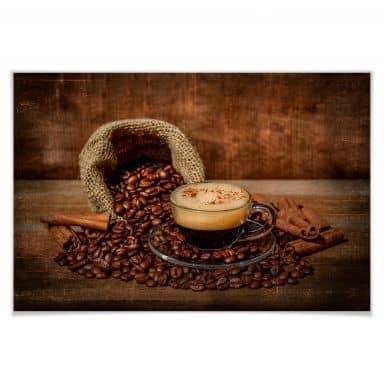 Poster Perfoncio - Kaffee rustikal
