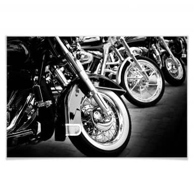 Poster Motorcycle Wheels