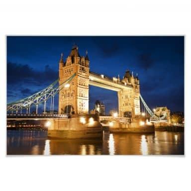 Poster Tower Bridge in London