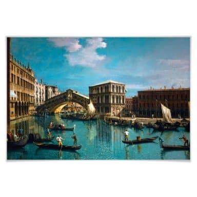 Poster Canaletto - Die Rialtobrücke in Venedig