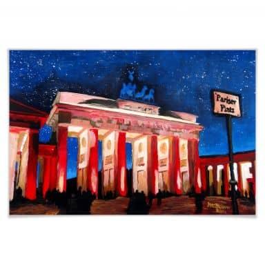 Poster Bleichner - Berlijn onder een sterrenhemel