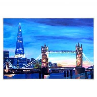 Poster Bleichner - London Tower Bridge und The Sha