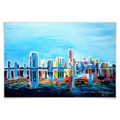 Poster Bleichner - Miami im Neonschimmer