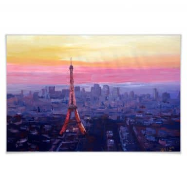 Poster Bleichner - Pariser Eiffelturm in der Abend