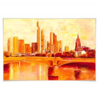 Poster Schüßler - Skyline Frankfurt