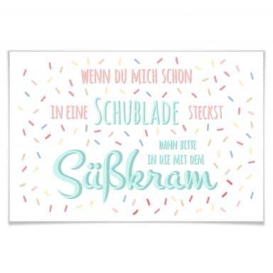 Poster Schublade mit Süßkram
