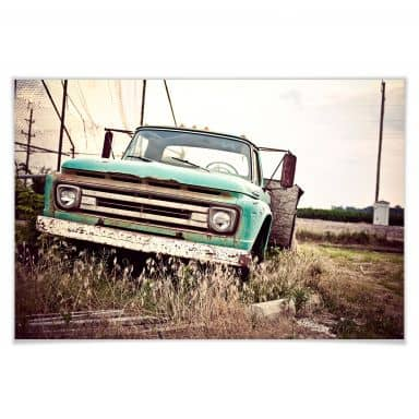 Poster American rusted Truck
