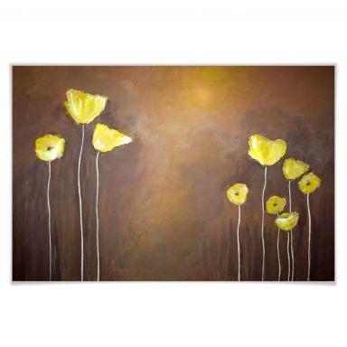 Poster - Melz - Coquelicot jaune