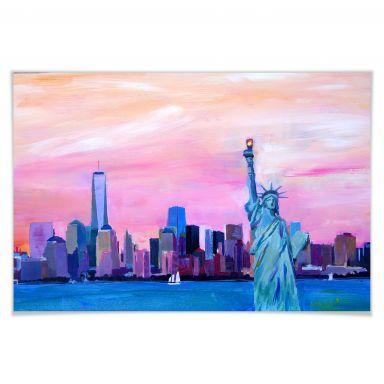 Poster - Bleichner - Manhattan Skyline